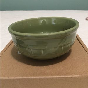 Longaberger Woven Traditions small bowl & spreader